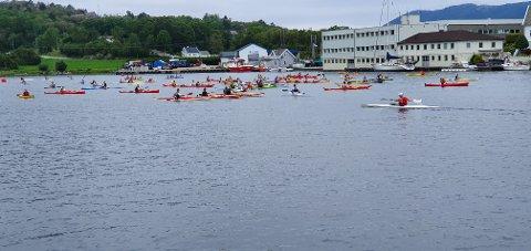 NESTEN 100 DELTAKERE: 95 påmeldte deltakere sørget for at årets Borgøy rundt ble tidenes mest populære turritt arrangert av Tysvær kano- og kajakklubb.