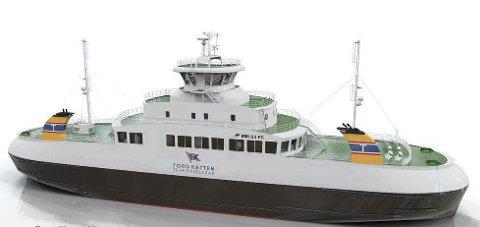 MILJØHENSYN: Den nye ferja til Torghatten Trafikkselskap blir verdens første biodiesel plug-in hybrid.