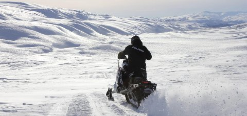 Fjellfeber: Lørdag åpnet deler av det kommunalt løypenett for snøscooter i Grane. Arkivfoto: Pål Leknes Hanssen