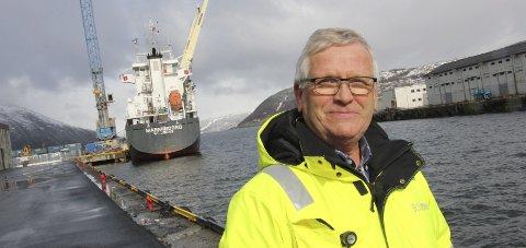 Knutepunkt: Odd Luktvasslimo har jobbet med prosjektet «Knutepunkt Helgeland». Her er godsterminal et tema. Foto: Jon Steinar Linga