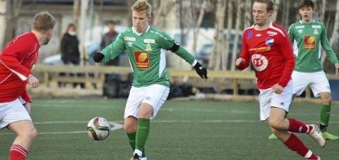 HJEMMESEIER: David Aakvik Licon scoret det første målet mot Stålkameratene 2 på Olderskog stadion.