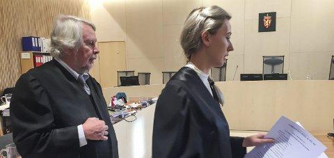 FAMILIEFAR:Advokatene Christian Wiig og Malene Holand forsvarte familiefaren i Alstahaug tingrett.