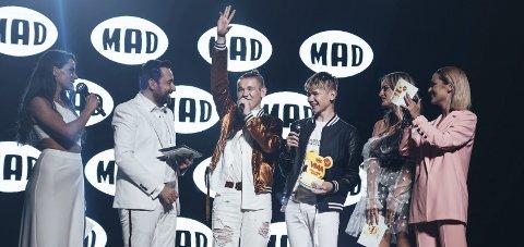 Helt gresk: Marcus og Martinus Gunnarsen vant Best international act på MAD TV VMAs i Aten onsdag. Foto: Agri
