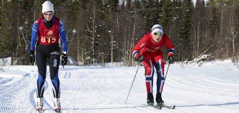 GOD TID: Karin Kjensli under Hjartfjellrennet forrige helg. Lørdag gikk hun fort i BirkebeinerrennetFoto: Stine skipnes