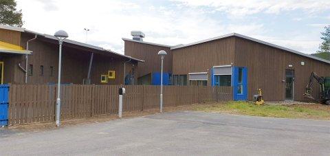 NYTT BYGG: Dette er det nye bygget til Guolban barnehage sentralt i Karasjok kommune.