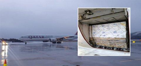 Qatar Cargo slo tirsdag ny lakserekord på Evenes flyplass