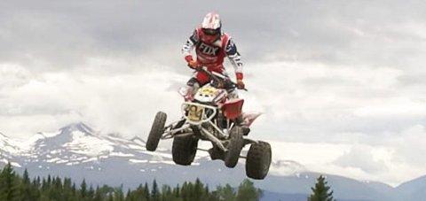 SPEKTAKULÆRT: Joakim Granli tok bronse under årets Norgescup i ATV. FOTO: PRIVAT
