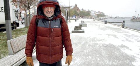 Ingen problemer: Ole Bernt Gammelsæter er kledt for vinter og kulde. foto: lars ivar hordnes