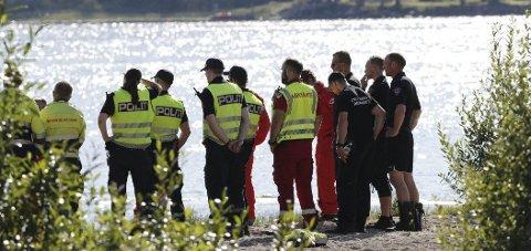 2019: Fra en av drukningsulykkene som media skrev om sist sommer. Foto: Terje Bendiksby / NTB scanpix