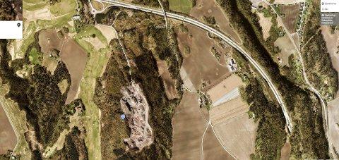 TUROMRÅDE: Solumsåsen er veldig mye brukt som turområde i Holmestrand. Skjermdump: gule sider