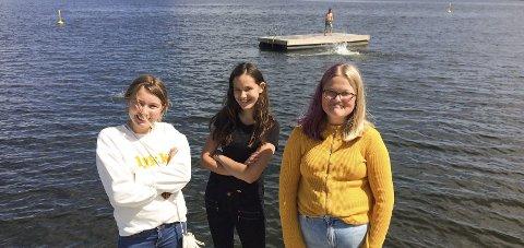HELT GREIT: Sier (fra v.) Tiril Fosheim Kleppan, Alexandra Weberg-Landvik og Hilma Aure Modal. Foto: Lars Ivar Hordnes