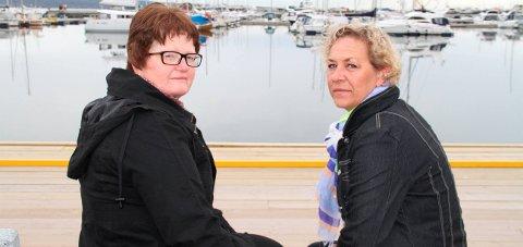 Protesterer: Grethe Hagen og Linda Kvilhaug nådde ikke fram med argumentene sine. Arkivfoto: Pål Nordby