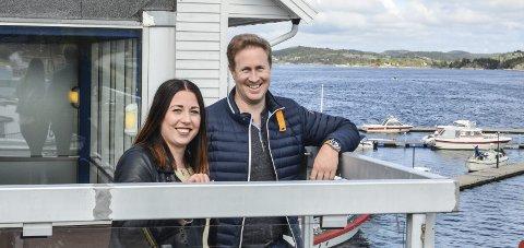 Slutt: Jeanett Risinggård Sortland og Daniel Christensen gir seg i Kragerø.