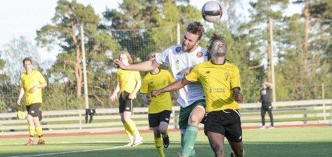 Scoret: Olivier Gisa var en av åtte målscorere for Kragerø. Her fra en kamp mot Snøgg tidligere i sesongen. Foto: Nils Jul Lande