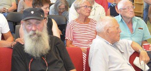 Fikk løfte: Tore Sveberg fikk løfte fra Ivar Tollefsen om penger til Kirkens Bymisjon og Frelsesarmeen i Kragerø.