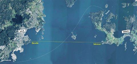Det blir no diskutert om ferja mellom Stord og Kvinnherad kan gå mellom Sæterneset og Djupavika.
