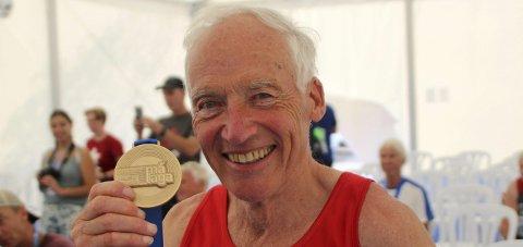SEIER IGJEN: Knut Henrik Skramstad fra KIF tok sitt andre VM-gull i veteranmesterskapet i Malaga torsdag.FOTO: TORREY ENOKSEN