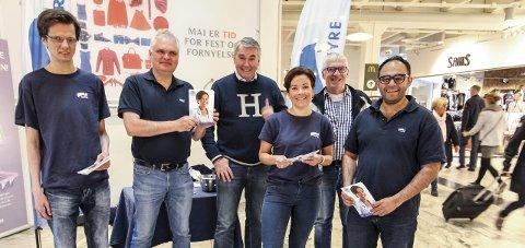 HØYRE-STAND: Fra venstre: Per Reidar Verlo, Frank Yggeseth, Trond Helleland, Gunn Cecilie Ringdal, Søren Falch Zapffe og Adnan Afzal.