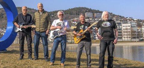 Fest på Haugestad: Når The Steel Chords kommer til Lier for første gang på 50 år blir det fest. Foto: PRIVAT