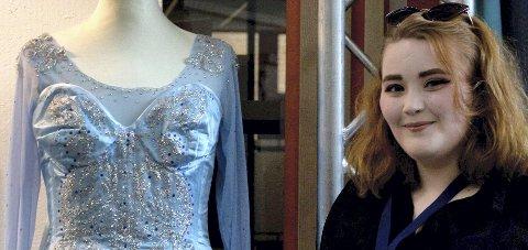Elsa-kostymet: Hedda Wium Karlsen med kostymet som ga billett til Trondheim. Arkivfoto: Marie Grensbråten Lorvik