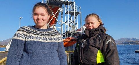 Kirsti Børresen og Johnita Stokvik ser frem til tiden fremover, med både utplassering og læretid.