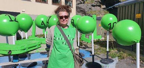 Årets farge under festivalen er grønn. - I fjor var det rosa, sier Sissel Helgesen.