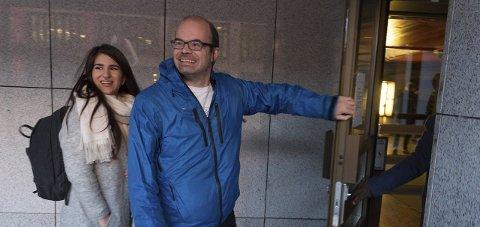 GOD STEMNING: Hans Olav Lahlum er forhandlingsleder for Gjøvik SV i de pågående forhandlingene.FOTO: HENNING GULBRANDSEN