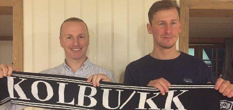 TRENERDUO: Micahel Urrang (t.v) og Øyvind Sundseth blir trenere i Kolbu/KK kommende sesong.