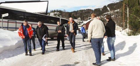 Milliardprosjekt: Flere av de store entreprenørene deltok da milliardprosjektet Bagn-Bjørgo ble presentert torsdag. Foto: Ann Kathrin Sørli Sveen