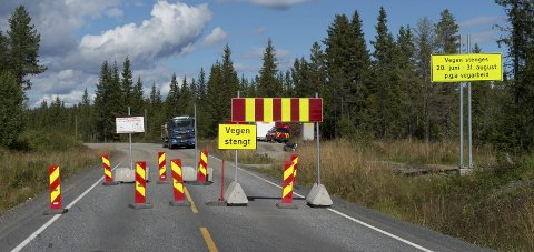 Utsatt: Fylkesveg 155 ved Hørstadskauvegen gjenåpnes i september.