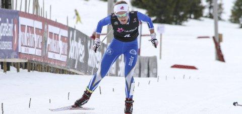 Tredjeplass: Tuva Bakkemo spurtet inn til tredjeplass i sesongens siste renn.  Foto: Henrik Hornnæss