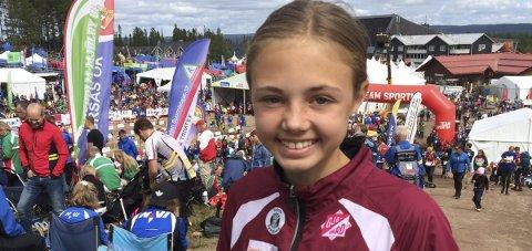 Åtter: Kristine Kravdal er nummer åtte sammenlagt i D15 etter to av fem etapper i O-ringen 5-dagers i Arvika. Arkivbilde