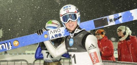 Fredrik Bjerkeengen endte på sjuendeplass i NM stor bakke i Holmenkollen. Arkivbilde