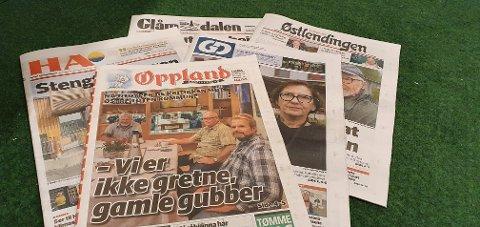 STØRST: Disse fem papiravisene blir mest besøkt på nett i Innlandet.