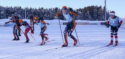 FIKK KONKURRERT: Vinds langrennsløpere fikk testet seg i sprint på Vind stadion lørdag.