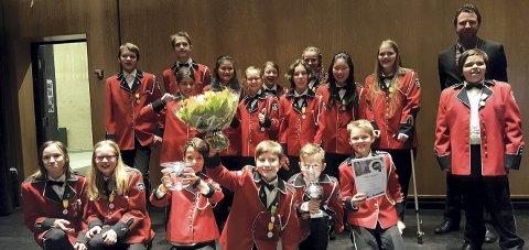 GOD INNSATS: Langhus skolekorps vant 3. divisjon i distriktsmesterskapet for brass i 2017. Nå slår de et nytt slag for det fine fellesskapet i korpset.