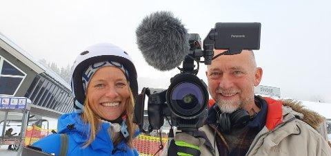 FJELLREPORTERE: Ida Bommen og Kåre Sponberg skal lage programmer for TV 2 fra Trysilfjellet i vinter.