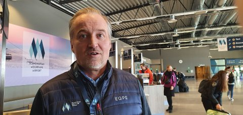 FORNØYD: Gunnar Lenman, administrerende direktør i Scandinavian Mountains Airport, er strålende fornøyd med at det fra og med desember etter planen opprettes en rute til Groningen i Nederland.
