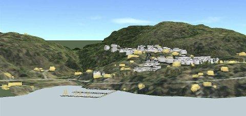 BOLIGER: Det er planlagt mange nye boliger i Bergsbygda.