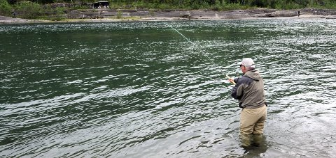 LITE MATAUK: Årets fiske i Ranelva etter laks handler stor sett om opplevelse og lite om matauk.