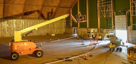 FORSINKET: Ny tid for ferdigstillelse av Ranahallen er satt til uke 51, altså uka før jula setter inn. Foto: Øyvind Bratt