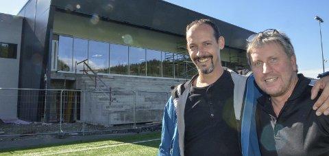 KLAR: Tor-Arne Nordvik og Jørgen Svarthoel er klar til å arrangere den 30. utgaven av Haaland Cup første helga i november,