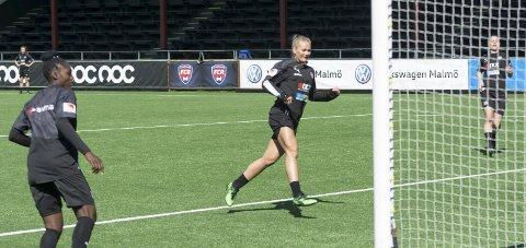 I form: Lisa-Marie Karlseng Utland er klar til den viktige kampen mot Linköpings FC som spilles mandag.