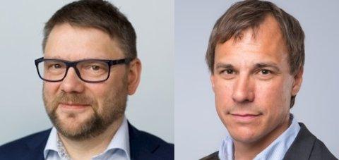 Jonny Berfjord (t.v.) er ny styremedlem i SpareBank 1 Helgeland, mens Bjørn Krane tar over som styreleder.
