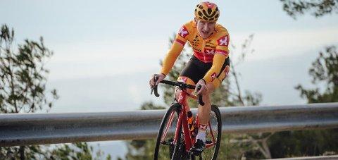 Spennende: Lars Saugstad fra Brumunddal deltar i sitt første ritt som profesjonell syklist i Colombia denne uka. Foto: Arkiv