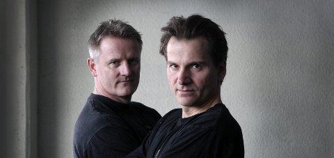 Krimpar: Jonny Brenna (t.v.) og Sigbjørn Mostue fant hverandre i 2012 og har siden holdt sammen som forfattere. Foto: Kay Stenshjemmet
