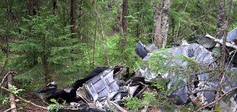 Rester: Flyvraket i Gutudalen har ligget der siden flystyrten i 1964. Arkivfoto