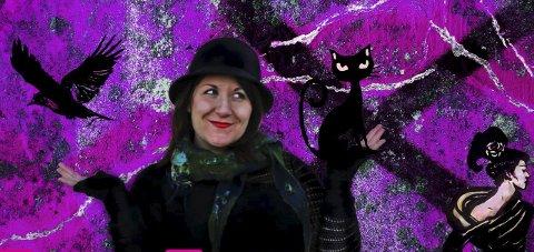 Stiller ut: Monica Ravn (32) bruker en miks av fotografi og maleri for å skape sitt eget uttrykk i bildene.Foto: Privat