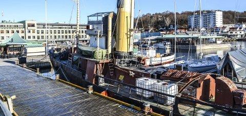 SLEPEBÅT: Over 30 år etter at den forlot Sandefjord, er nær 100 år gamle Forlandet tilbake. Nå skal den pusses opp. Foto: Paal Nygaard