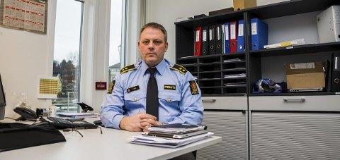Trenger folk: Per Fjeld ved Indre Østfold politistasjon sier at de er fornøyd med å ha fått en ny stilling. Arkivfoto